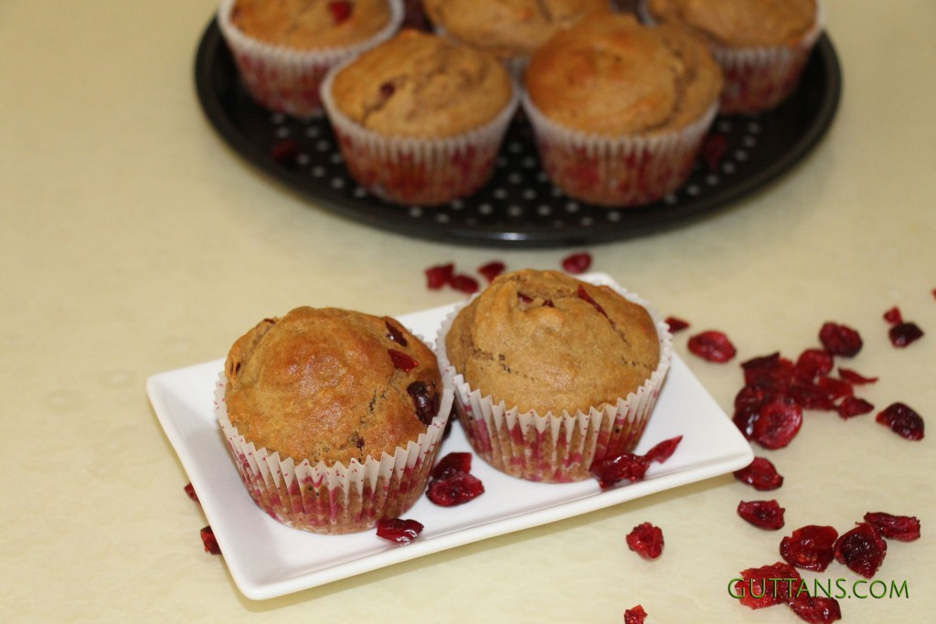 Whole Wheat Cranberry Muffins