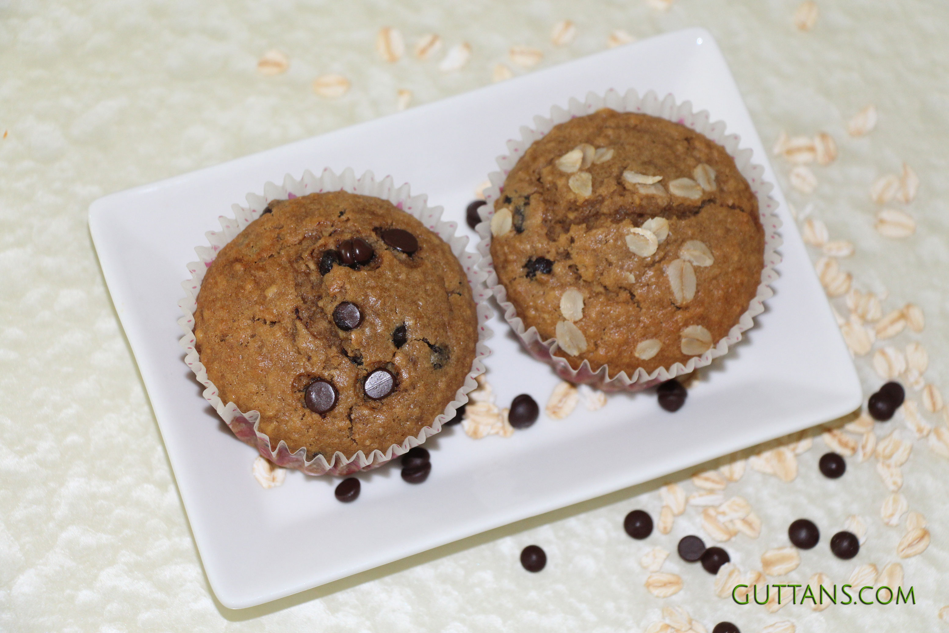 Oatmeal Wheat Muffins