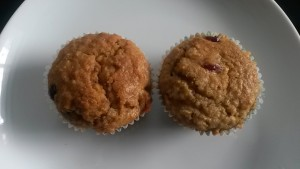 Whole Wheat Oats Muffins with Cranberry