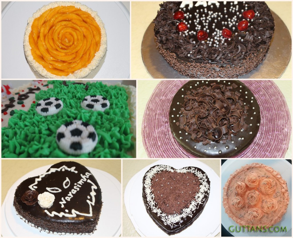 EGGLESS CAKES ~~ MANGO FLOWER CAKE ~~ CHOCOLATE GANACHE FROSTING