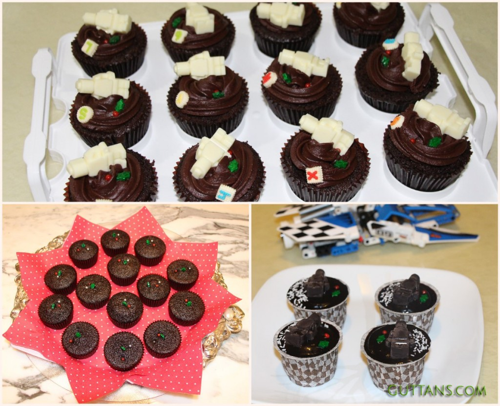 DARK SECRET CHOCOLATE CUPCAKES ~~ LEGOMAN CUPCAKES