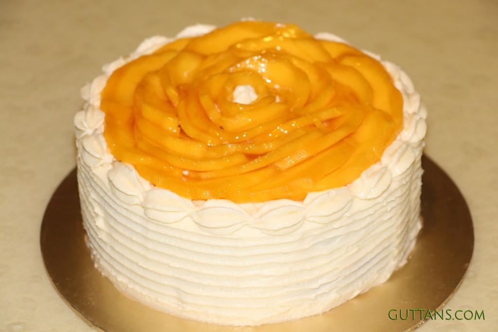 Mango Flower Cake