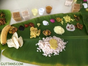 Serving Onam Sadya